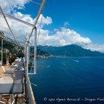 restaurant deck and breakfast area