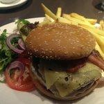 My dinner, a very nice juicy burger