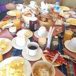 El desayuno mmmm rico rico