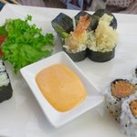 Three roll maki lunch special