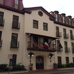 Front of building.  Beautiful Spanish Colonial design