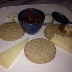 Cheeseboard  Italian Pecorino  Montgomery cheddar Herbed goats cheese  Roquefort