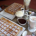 Perfect Waffles - perfect hot chocolate