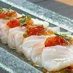 Bacalao marinado a la pimienta rosa