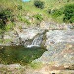 waterfall from monsoon rains