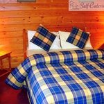 Double Bedroom in Kilcorby Log Cabins