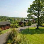 View of grounds surrounding Kilcorby Log Cabins