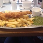 Fish and chips Harry ramsdens'