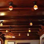 Rare woodwork & light fixtures