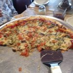 Incredible pizza with anchovies