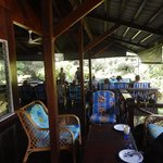 Communal eating and lounge area