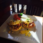 New item added to the menu. Eggs Benedict with Bacon! Cooked to perfection and highly recommende