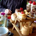 Afternoon 'picnic bench' Tea