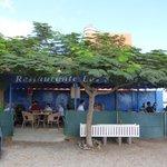 Het terras van het restaurant.