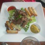 viet spring rolls with beef