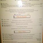 Smokehouse menu 1