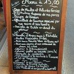 Il menu a 15 euro