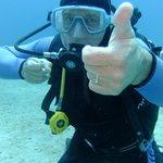 My Husband enjoying his dive