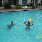 Fun in the pool with my son