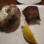 Sirloin, baked potato. Look at the size of that steak