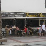 Outside Karens Bar