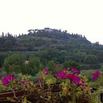 View of Montepulciano from il Covo terrace