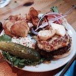 Crab Brie burger