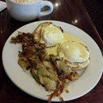 Eggs Benedict with Homefries & a Pumpkin Latte