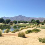 Awesome desert golf scenery