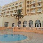 vue de l'hôtel de la piscine