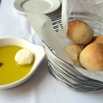 Bread with dipping oil.