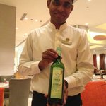 Great service (and Indian wine) at Melange. Thank you, Kamalesh!