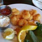 Our free delicious appetizer:-) Popcorn shrimp