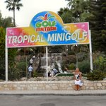 minigolf just outside hotel