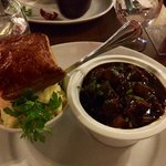Braised Beef & Guinness Stew with mashed potatoes and puff pastry