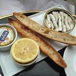 Mini sardinhas deliciosas