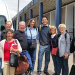 Our group of 8 with Jhonathan of Machu Travel Peru in the middle
