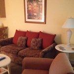 Sitting area of suite