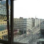 View from 8th floor room, Ibis Styles Anterpen Centraal, over Koningen Astridplein