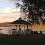 The Inn has a lovely gazebo to sit and enjoy the lake!