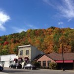 Downtown Hammondsport - lovely fall colors!