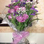 Gift from Pino - wedding anniversary flowers from hotel owner