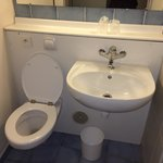 Not many spare sockets in the room but don't worry there is one for the loo.