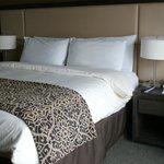 ほどよい堅さのベッド