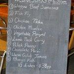 Banquest menu
