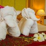 ผ้าเช็ดตัวรูปช้างน้อย