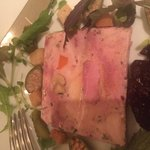 Game terrine with damson marmalade