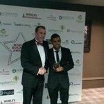 Receiving the award