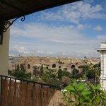 Vista a las Termas de Diocleciano, desde la terraza