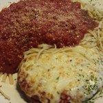 Veal Parmesan & Linguine